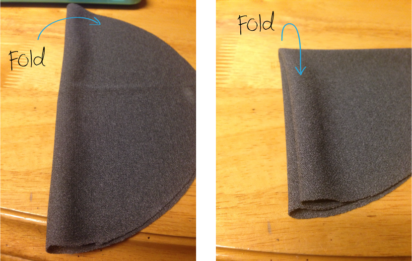 Demonstrating the fold of circle