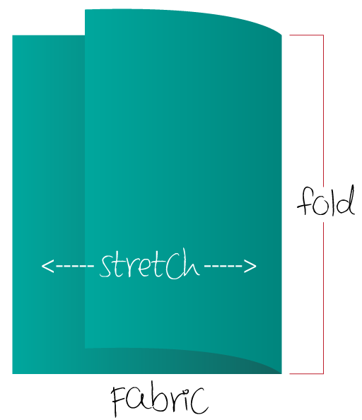 Example of fabric stretch