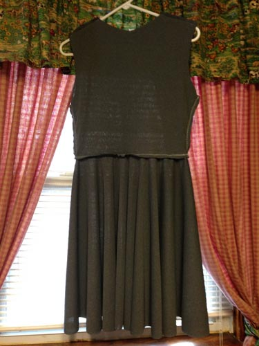 Skirt attached to bodice 1