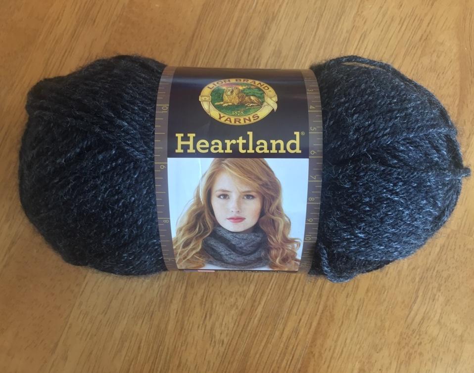 """Lion Brand Heartland yarn in """"Black Canyon"""""""