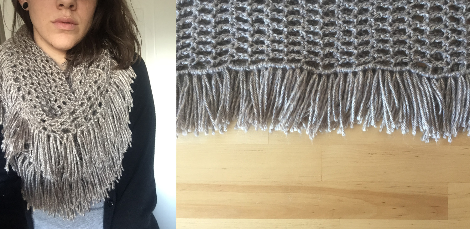 Featured image for Weeping Willow infinity scarf pattern