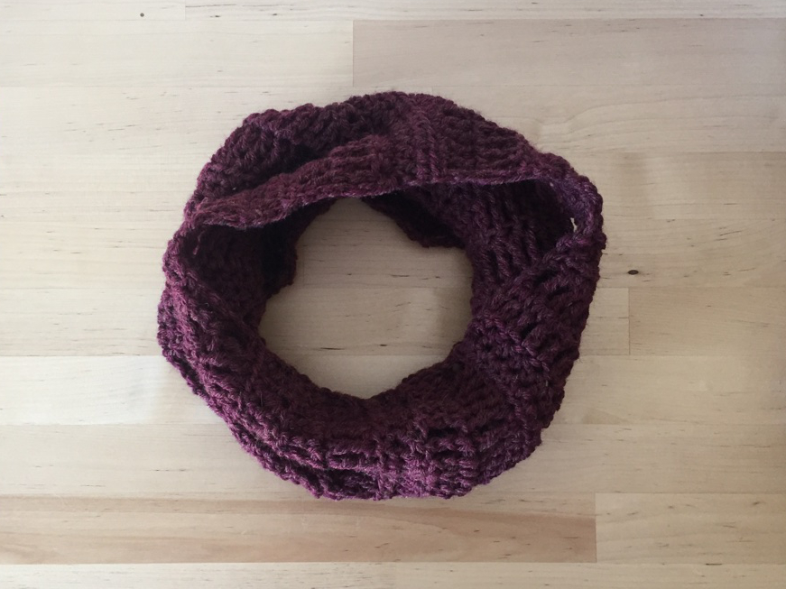 Completed Denver Cowl pattern from DomiknitsCreations