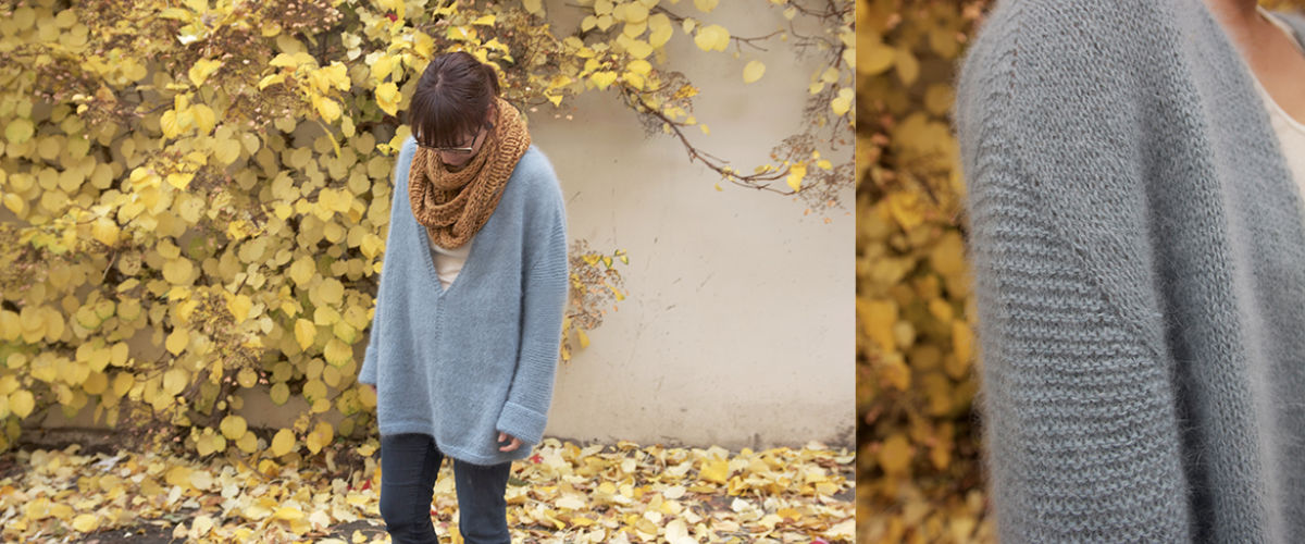 Mellow V Sweater from Anna & Heidi Pickles