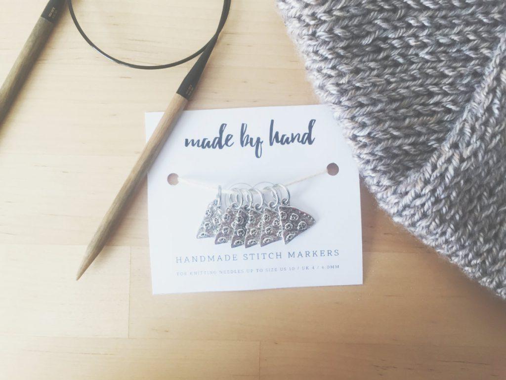 Pizza slice knitting stitch markers