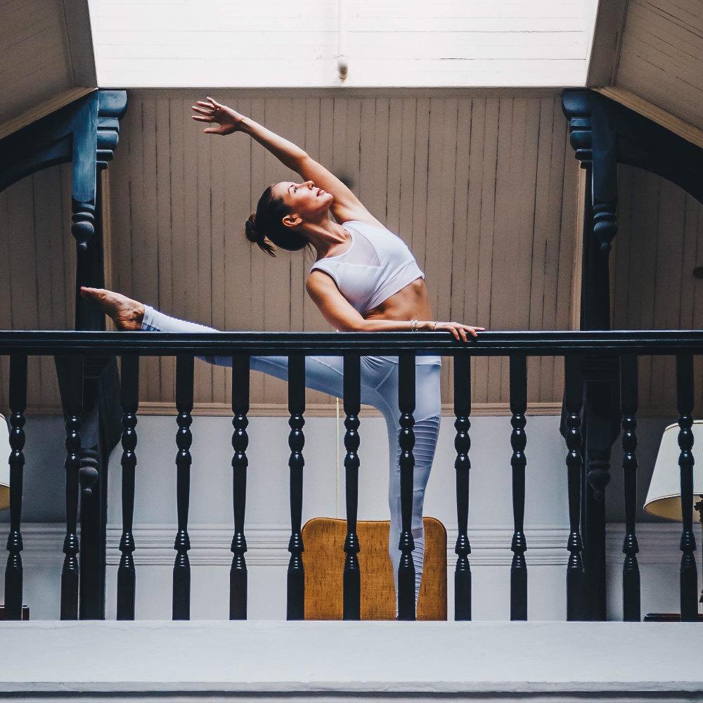 Ballerina dancer wearing spandex clothing