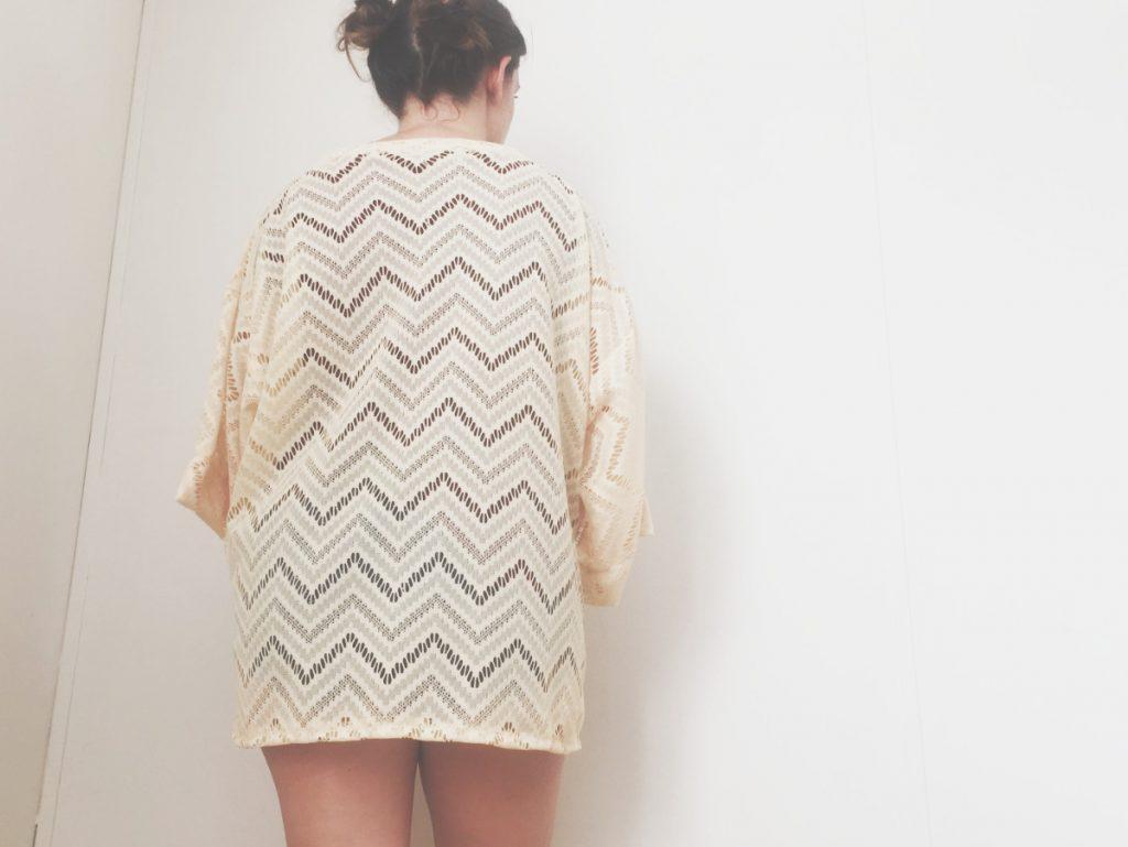 back of kimono cardigan