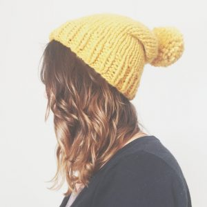Basic Beanie in mustard yellow