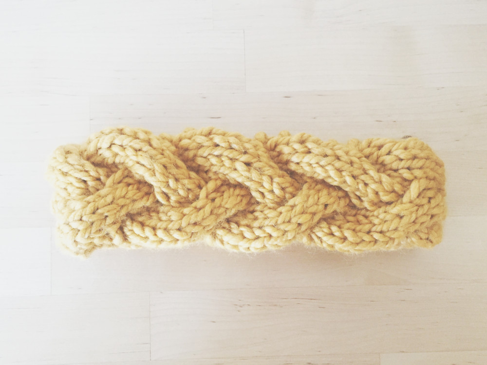 Cypress Headband in mustard