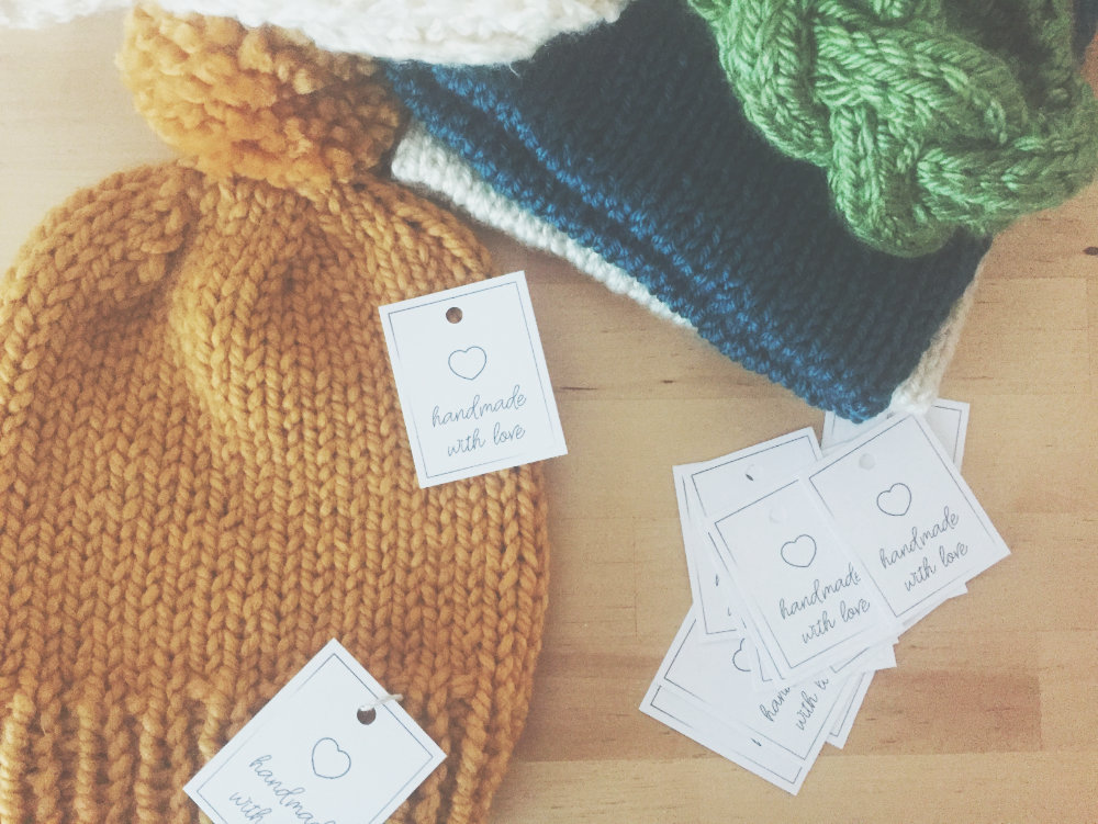Handmade hang tags