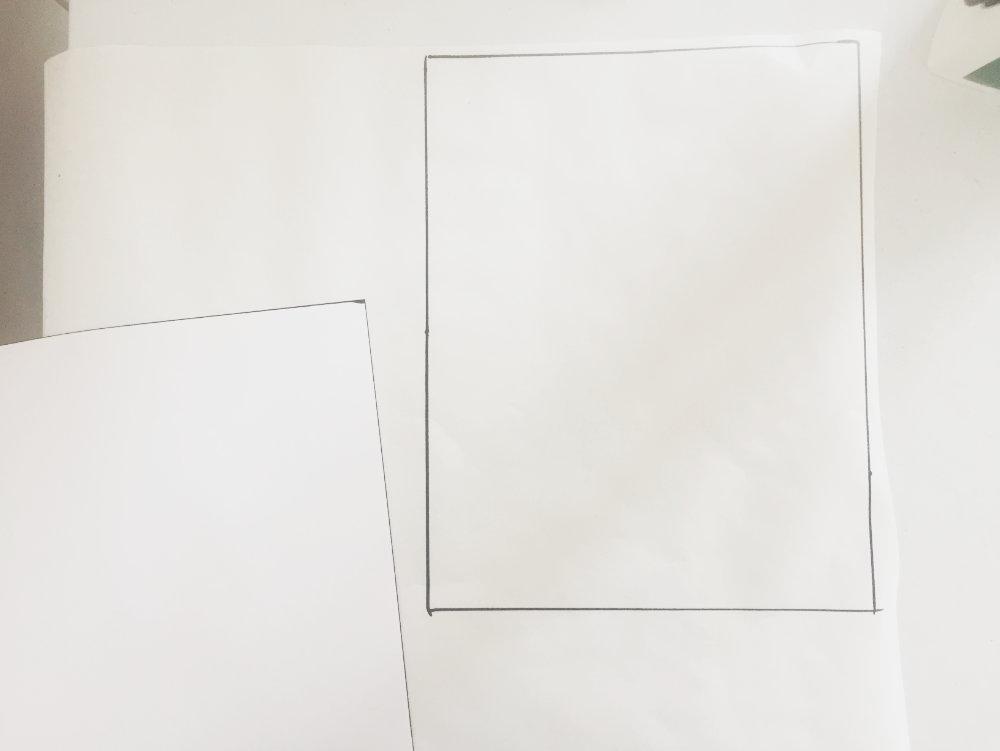 trace onto freezer paper