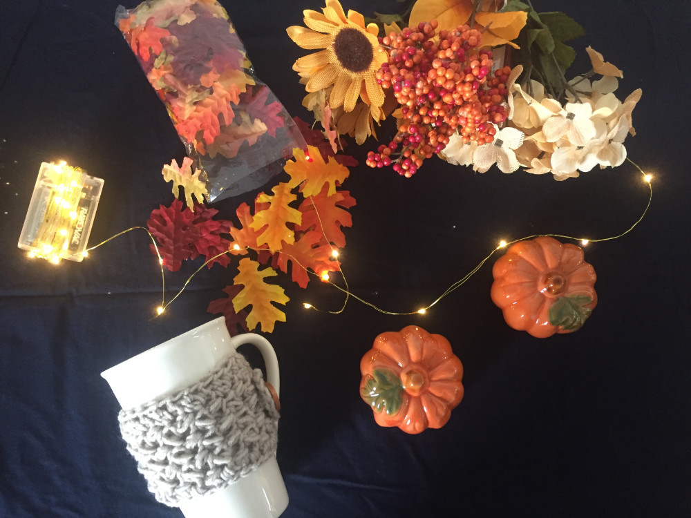 fall decorations from the dollar store