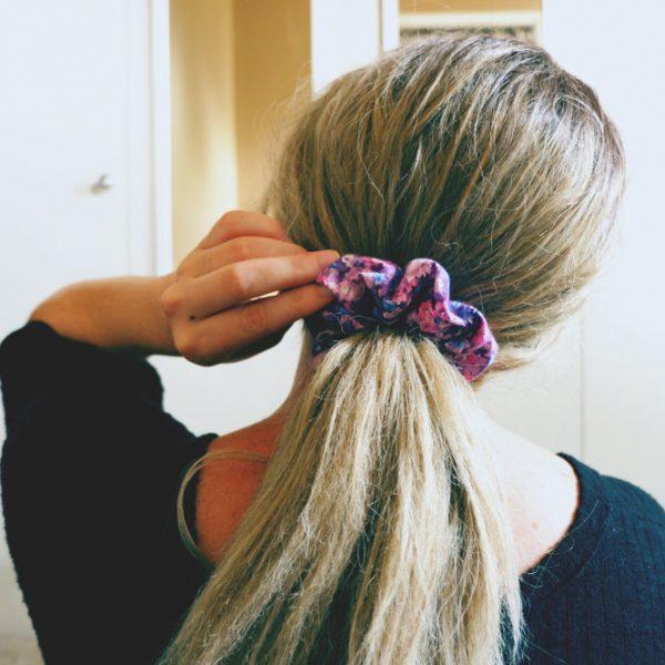 scrunchie on model