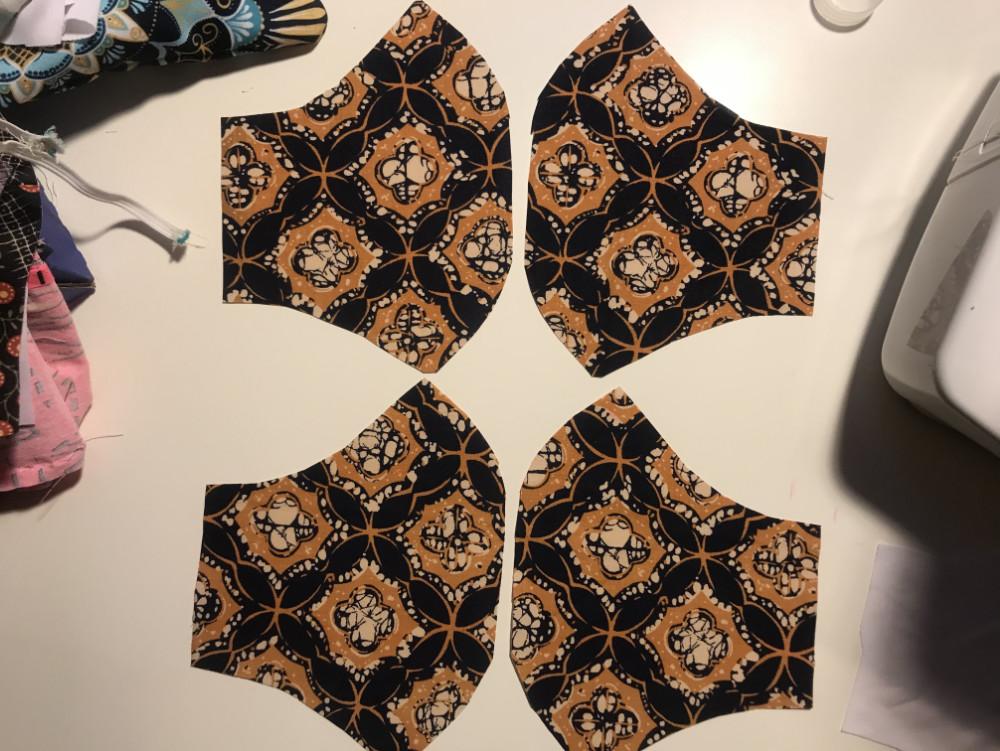 COVID-19 Coronavirus face mask main fabric pieces